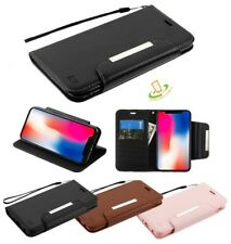 Apple iPhone XS Max Leather Wallet Card Pouch Slots Magnet Flip Fold Case Cover