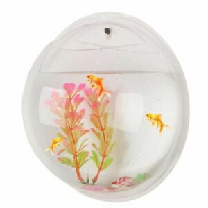 Fish Bowl Wall Mounted Aquarium Tank Home Creative Decors Transparent Accessory