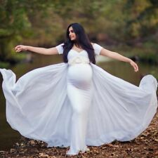 Maternity Dress With Cape Stretchy Baby Shower Long Pregnancy Maternity Dress
