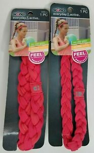 Scunci No Slip Grip Braided Hairband Headwrap #20065 Lot of 2