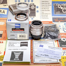 (14) Carl Zeiss 35-70/3.5-5.6 T * ARGENTO ZOOM LENS F/Contax G1 G2 NUOVI OPEN BOX