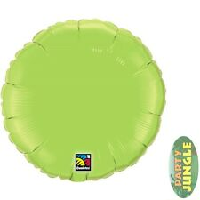"Lime Green Plain Round Foil Balloon 18"" Qualatex Party"