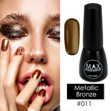 MAX 7ml Nail Art Color UV LED Lamp Soak Off Gel Polish #011-Metallic Bronze