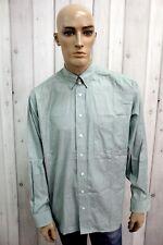 BURBERRY Camicia Taglia 2XL Uomo Cotone Shirt Chemise Casual Manica Lunga