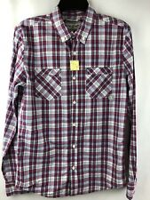 Warp and Weft Pacsun NEW Men size S Cotton Plaid  Blue Red  Shirt