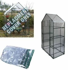 New Walk In Clear Spare Greenhouse Cover Replacement Pvc Only For Garden Grow