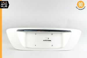 03-06 Mercedes W220 S600 S55 AMG Trunk Lid License Plate Panel Trim Silver OEM