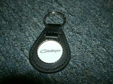 1970 1971 1972 1973 1974 DODGE CHALLENGER VINTAGE LOGO LEATHER KEYCHAIN BLACK