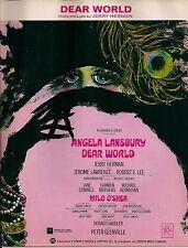 Dear World Sheet Music 1968 TITLE SONG