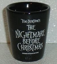 "Nightmare Before Christmas Shot Glass Jack Disney Touchstone Black 2.25"""