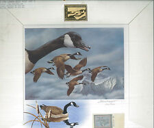 Montana #1 1986 Duck Stamp Print Canada Geese Exec Edition by Joe Thornbrugh