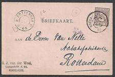 Netherlands 1898 private Pc Middelburg + TrainCanc