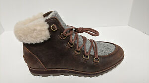 Sorel Harlow Cozy Lace-Up Boots, Brown, Women's 9.5 M