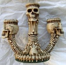 Halloween Skull Taper Candle Holder from Harry Potter Knockturn Alley Skeleton