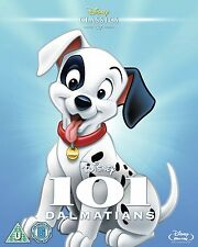 101 Dalmatians [Blu-ray] (1961) Classic Disney Animated Movie Dalmations Cartoon