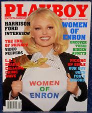 "Magazine PLAYBOY August 2002 !!WOMEN OF ENRON!! ""CHRISTINA SANTIAGO-CENTERFOLD"""