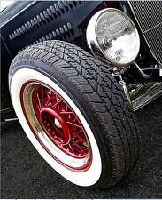 "Atlas White walls 15"" Tyre 4 NEW! Add on insert Trim Set. Port-a-wall sidewall."
