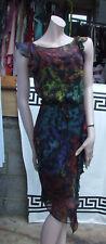 US 4 DIANE VON FURSTENBERG DVF SOMPTUEUX multicolores 2 pièces robe en soie UK