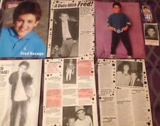 Magazine CLIPPINGS lot Fred Savage pin-up articles 80's 90's the wonder years