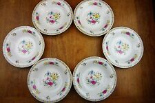 Set of 6 Liling Fine China Shallow Bowls/Dishes Yung Shen Ling Rose Pattern