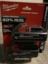 Milwaukee 48-11-1837 M18 18-Volt Lithium-Ion High Output Cp 3.0Ah Battery 2 Pack