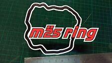 M 25 Anello Decalcomania Adesivo Auto Furgone Bici finestra FUNNY NURBURGRING Neverbeen JDM VAG P