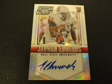 2015 Collegiate Draft Picks Jahwan Edwards Prizm Rookie Auto Ball State