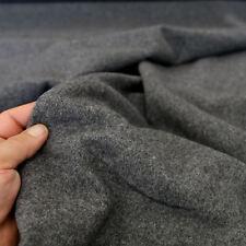 grau meliert Kaschmir Woll-Stoff dick warm für den Winter Mantel Meterware Tolko