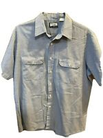 Vintage Fieldmaster Shirt Blue Mens Large Cotton Polyester Blend Made In USA EUC