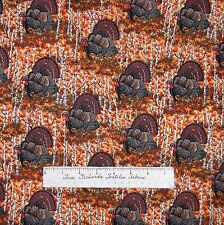 Riverwoods Fabric - Thanksgiving Turkey Autumn Forest Scene - Cotton YARD