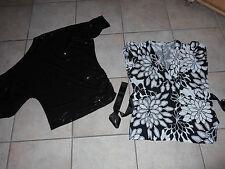 Bekleidungspaket 2x schickes Damen T-Shirt Gr. 40/42