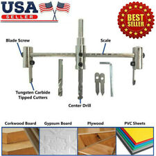 Adjustable 40-300mm Metal Wood Circle Hole Saw Drill Bit Cutter Kit Tool