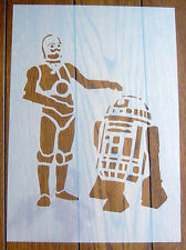 C3PO & R2D2 Star Wars Droids Stencil Mask Reusable Mylar Sheet for Arts & Crafts