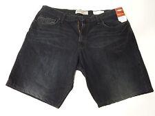 Men Blue Jean Denim Shorts Casual Black Size 38 X 30 Wrangler Relaxed Boot