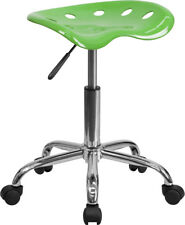 Vibrant Spicy Lime Tractor Seat And Chrome Stool Lf 214a Spicylime Gg
