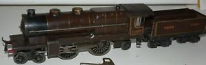 HORNBY O GAUGE CLOCKWORK  NORD LOCOMOTIVE AND TENDER IN GOOD CONDITION WITH BOX