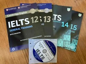 2020 Published Cambridge General IELTS books 12,13,14,15 with CD/General Ver