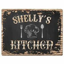 Pp2125 Shelly'S Kitchen Plate Chic Sign Home Kitchen Decor Birthday Gift