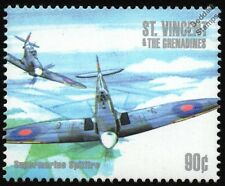 WWII RAF Supermarine SPITFIRE Aircraft Stamp #1 (1940-2000 Battle of Britain)
