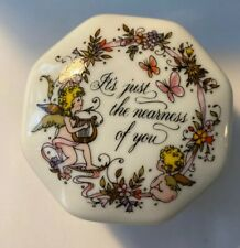 1983 Songs Of Love Music Box Vintage Franklin Mint It's Just The Nearness Of You