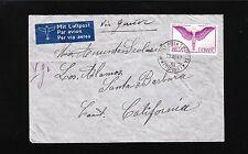 Switzerland Air Mail Icarus 1fr Air via Geneva Monti della Trinita 1941 Cover 4q