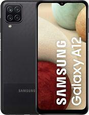 """SAMSUNG GALAXY A12 BLACK 64GB ROM 4GB RAM DUAL SIM AMDROID DISPLAY 6.5"""" HD"""