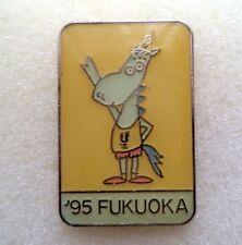 WORLD UNIVERSITY SUMMER GAMES 1995 FUKUOKA badge pin sport, athletics