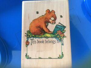 Individual Wood Stamp  Teddy Bear Scrapbook Card Making  Stamps