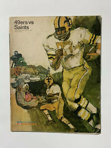 1967 S.F. 49'ers vs SAINTS 1st Yr. NEW ORLEANS football program/BILL KILMER!!