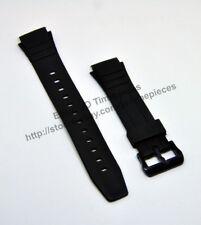 Compatible Casio F-200-1A / 2A  Rubber Black Watch Band - Strap