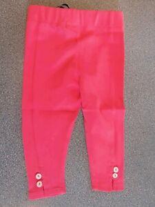 Little Green Radicals Organic Cotton Rose Pink Frill Leggings 0 3 6 9  1 - 2 yrs
