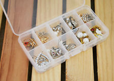 10 Grids Adjustable Jewelry Beads Pills Nail Art Tips Storage Box Organizer Case