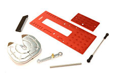 INTEGY RC C25847RED Fifth Wheel Coupling Set for Custom 1/14 Semi-Tractor Truck