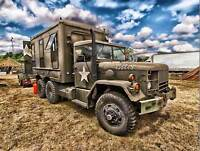 MILITARY VEHICLE USA ARMY TRUCK CLOUD TRANSPORT POSTER ART PRINT PICTURE BB1270B